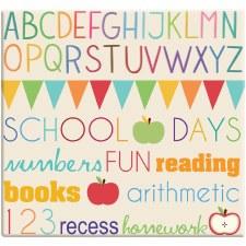 MBI 12x12 Postbound Scrapbook- Elementary School
