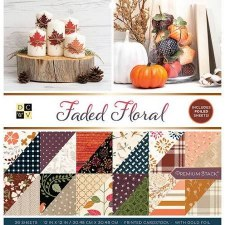 12x12 DCWV Paper Stack- Faded Floral