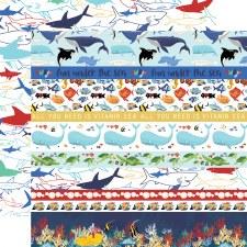 Fish are Friends 12x12 Paper- Border Strips
