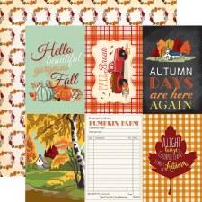Fall Break 12x12 Paper- 4x6 Cards
