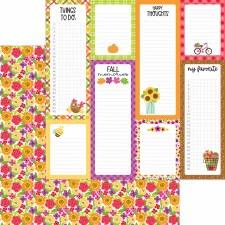 Fall Market 12x12 Paper- Fall Floral