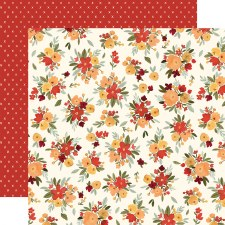 Hello Autumn 12x12 Paper- Fall Floral