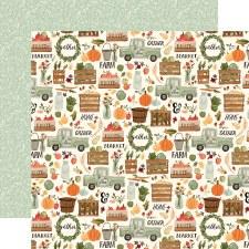 Hello Autumn 12x12 Paper- Fall Harvest