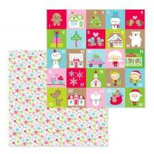 Christmas Town 12x12 Paper- Festive Flurry