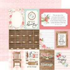 Farmhouse Market 12x12 Paper- 3x4 Cards