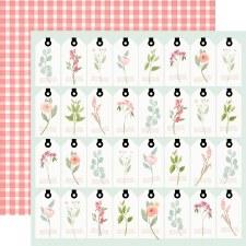 Farmhouse Market 12x12 Paper- Tags