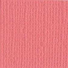 12x12 Pink Textured Cardstock- Flamingo