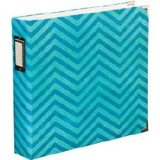 American Crafts D-Ring Album- Maggie Holmes Teal Chevron