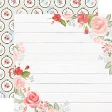 Farmhouse Market 12x12 Paper- Floral Corners