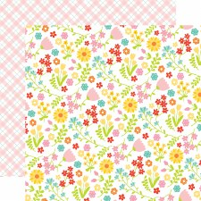 Easter Wishes 12x12 Paper- Floral Fun
