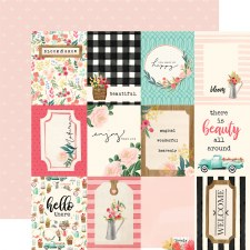 Flower Market 12x12 Paper- 3x4 Journaling Cards