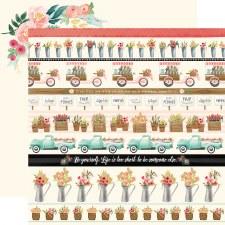 Flower Market 12x12 Paper- Border Strips