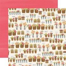 Flower Market 12x12 Paper- Market Shop