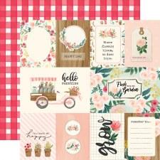 Flower Market 12x12 Paper- Multi Journaling Cards
