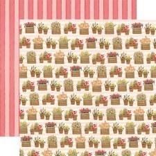 Flower Market 12x12 Paper- Planted Flowers