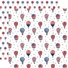 America the Beautiful 12x12 Paper- Fourth of July