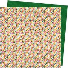 Amy Tangerine Slice of Life 12x12 Paper- Full Bloom