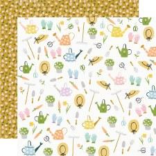 Bunnies + Blooms 12x12 Paper- Garden Party