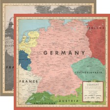 Cartography No.2 12x12 Paper- Germany