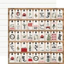 Farmhouse Christmas 12x12 Paper- Gift Tags