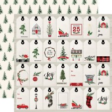 Christmas 12x12 Paper- Gift Tags