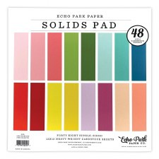 12x12 Solids Paper Pad, 48 Sheets- Girl