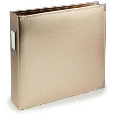 We R Memory Keepers 12x12 Classic Leather 3-Ring Album- Gold
