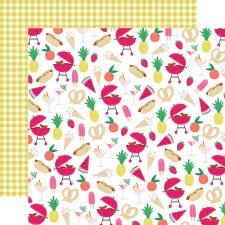 Best Summer Ever 12x12 Paper- Good Vibes