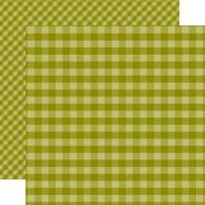 Autumn Gingham 12x12 Paper- Green