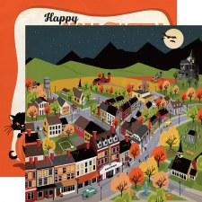 Happy Halloween 12x12 Paper- Halloween Town