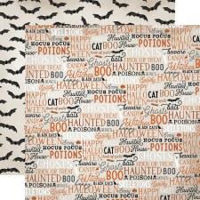 Halloween Market 12x12 Paper- Halloween Words