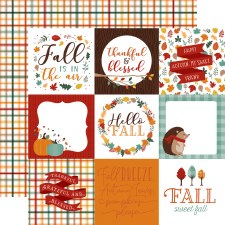 Happy Fall 12x12 Paper- 4x4 Cards