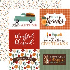 Happy Fall 12x12 Paper- 6x4 Cards