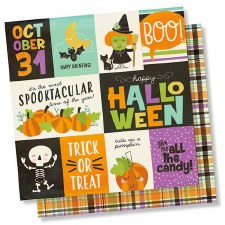 Happy Halloween 12x12 Paper- 3x4 and 4x6 Cards