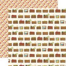 Fall Market 12x12 Paper- Harvest Crates