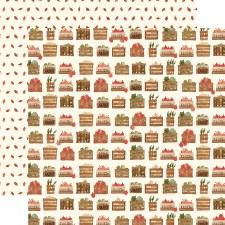 Hello Autumn 12x12 Paper- Harvest Crates