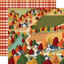 Fall Break 12x12 Paper- Harvest Town
