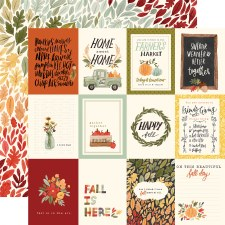 Hello Autumn 12x12 Paper- 3x4 Cards