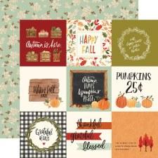 Hello Autumn 12x12 Paper- 4x4 Cards