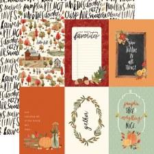 Hello Autumn 12x12 Paper- 4x6 Cards