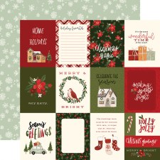 Hello Christmas 12x12 Paper- 3x4 Cards