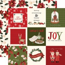 Hello Christmas 12x12 Paper- 4x4 Cards