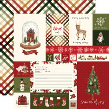 Hello Christmas 12x12 Paper- Cards