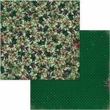 Christmas Treasures 12x12 Paper- Holly