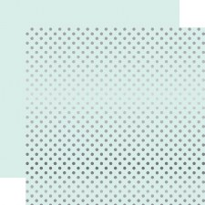 Foil Polka Dot 12x12 Paper- Ice Blue with Silver Dots