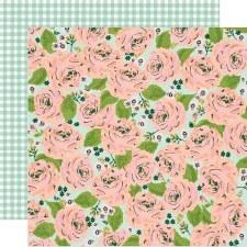 Bunnies + Blooms 12x12 Paper- In Full Bloom