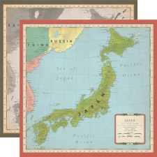 Cartography No.2 12x12 Paper- Japan