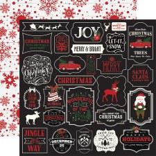 A Lumberjack Christmas 12x12 Paper- Jingle All The Way