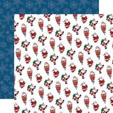 Merry Christmas 12x12 Paper- Jolly Santa Claus