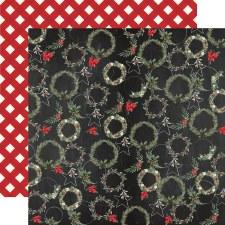 Christmas 12x12 Paper- Jolly Wreaths